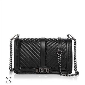 Rebecca Minkoff Chevron Crossbody Bag - all black